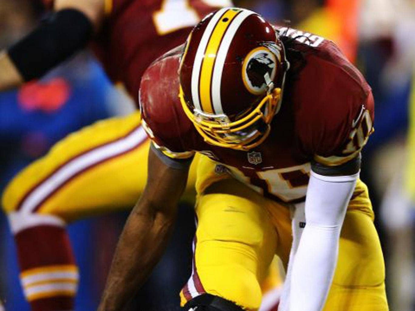 Robert Griffin III played on last week with a serious knee injury