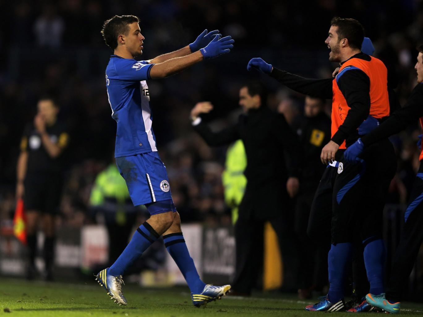 Franco Di Santo celebrates his side's goal