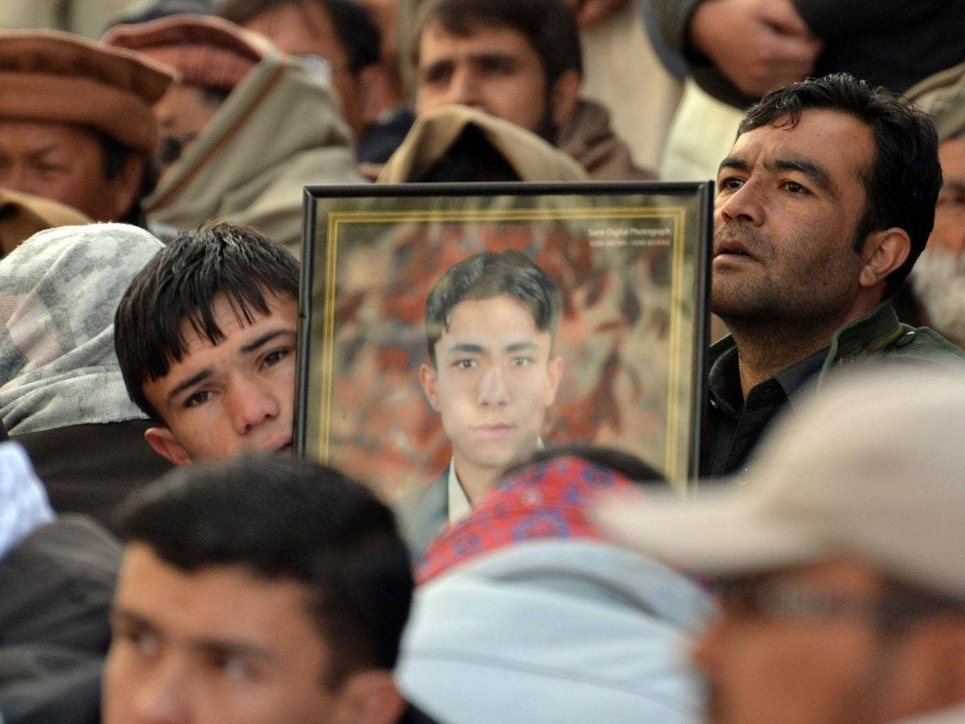Raw grief: Demonstration in Quetta after last week's bombings in which 82 died