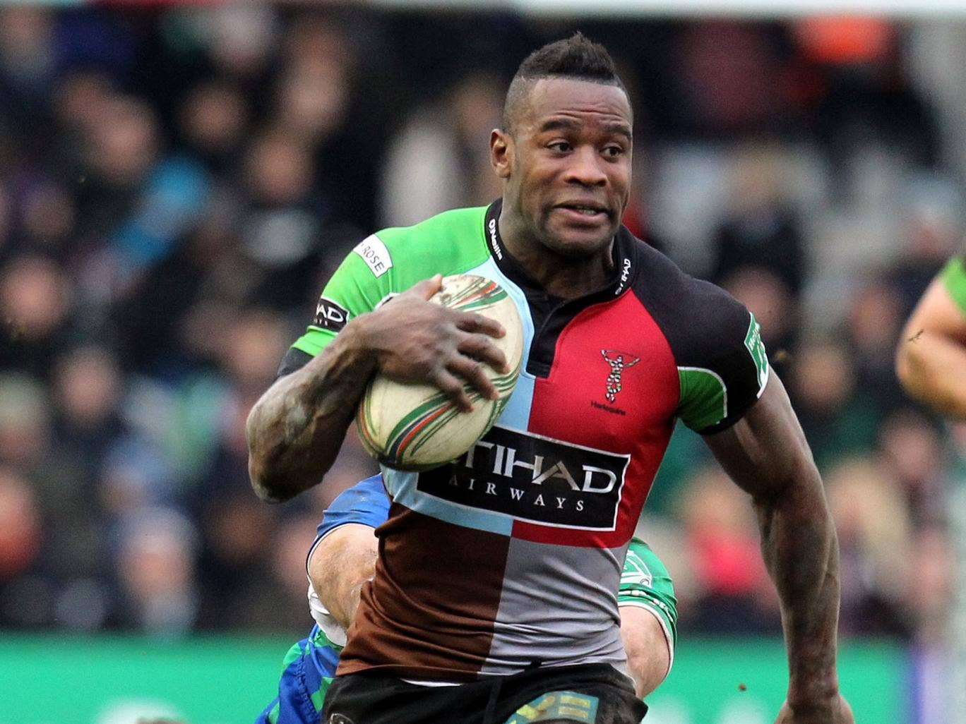 Saxon angle: Ugo Moyne, demoted by England this week, scores a try