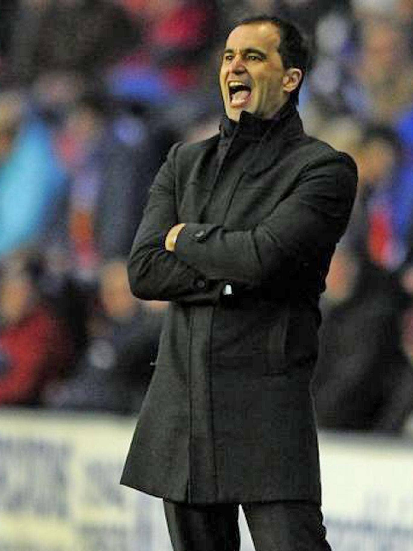Wigan manager Roberto Martinez is resisting the urge to bring in a centre-back this month