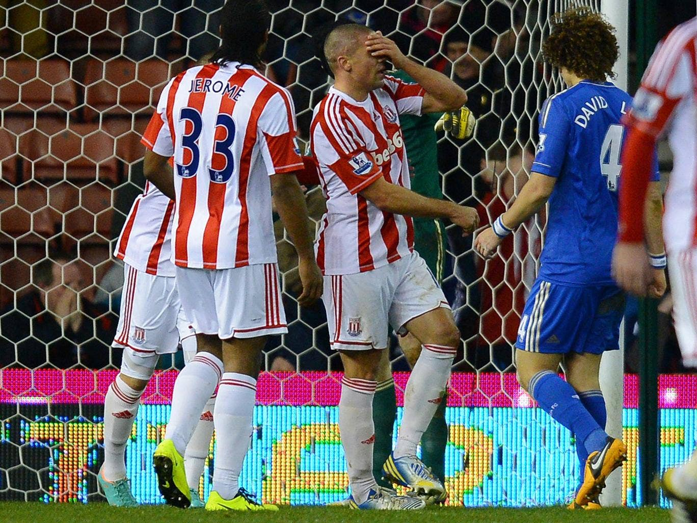 Jon Walters reacts after missing a penalty