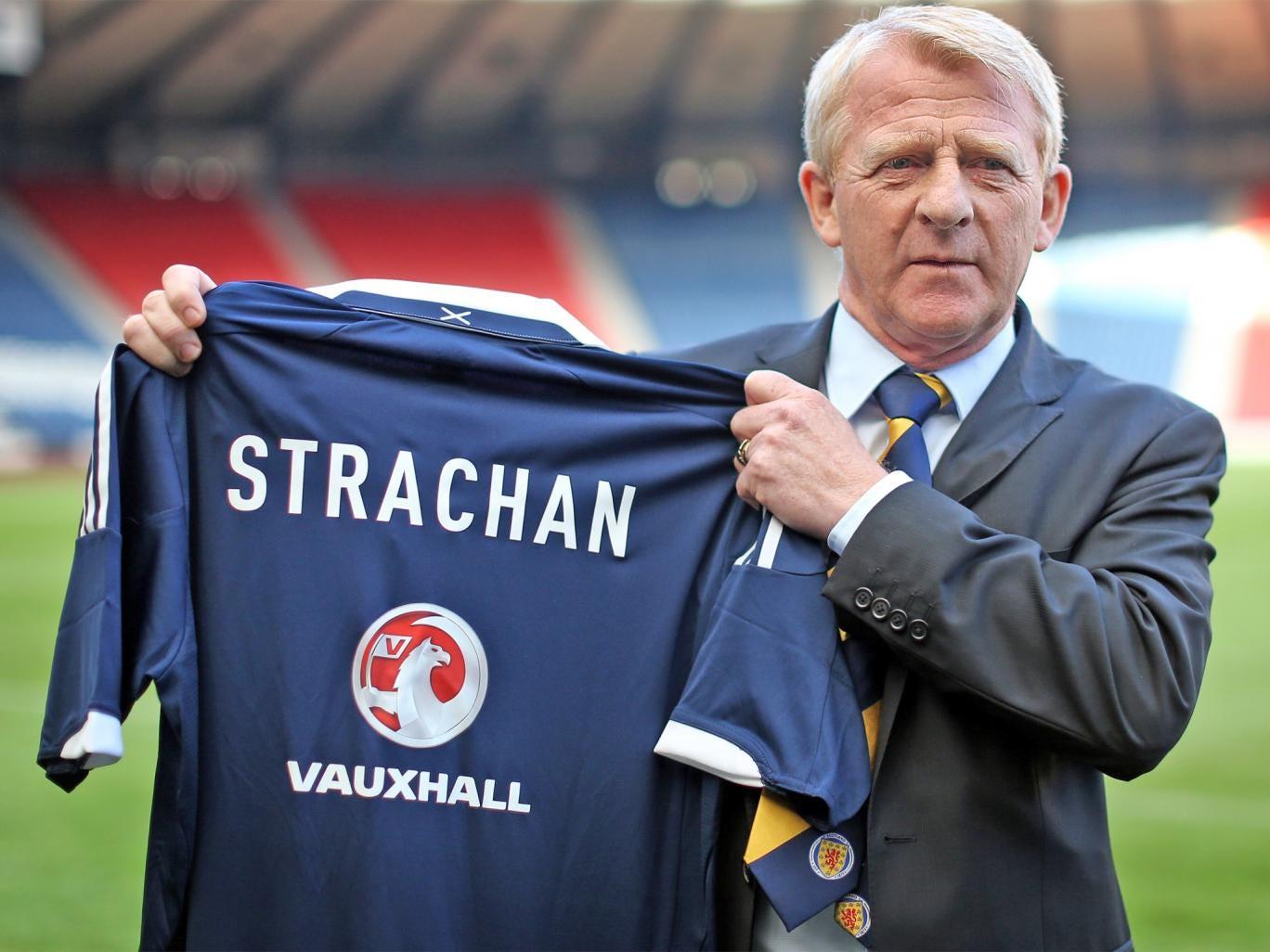 Gordon Strachan is unveiled at Hampden Park