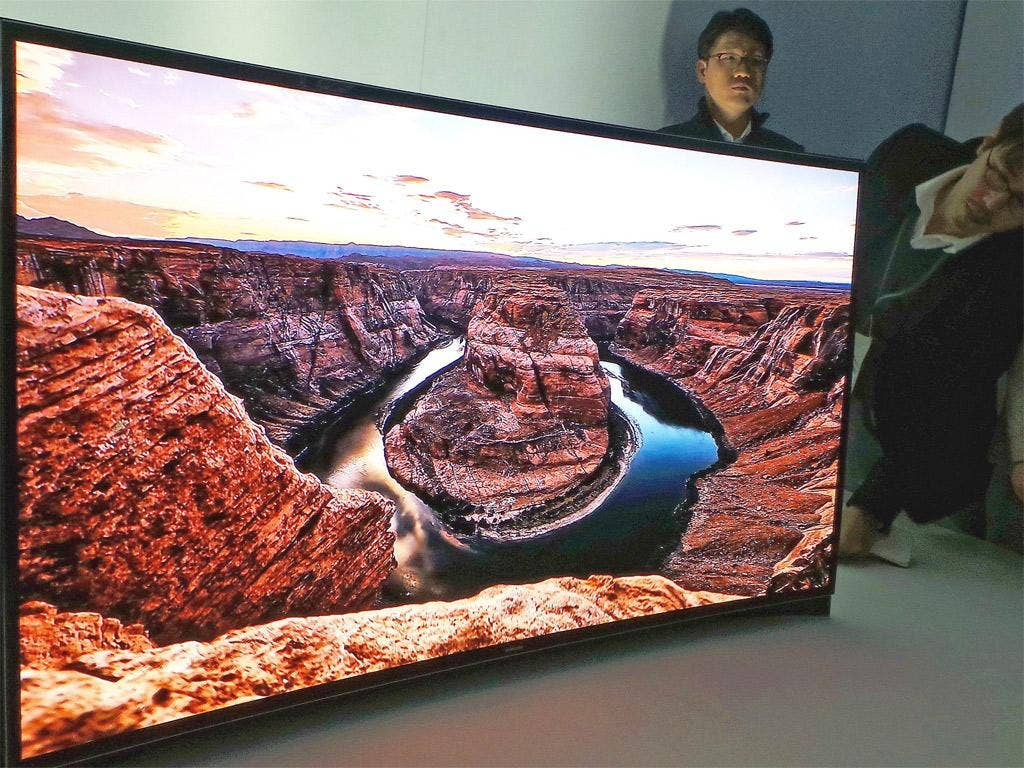 CES hits: a curbed OLED TV and a flexible display