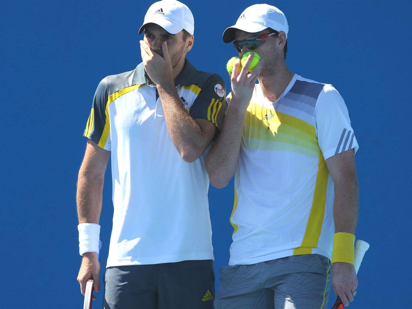 Colin Fleming and Jamie Murray talk tactics at Melbourne Park