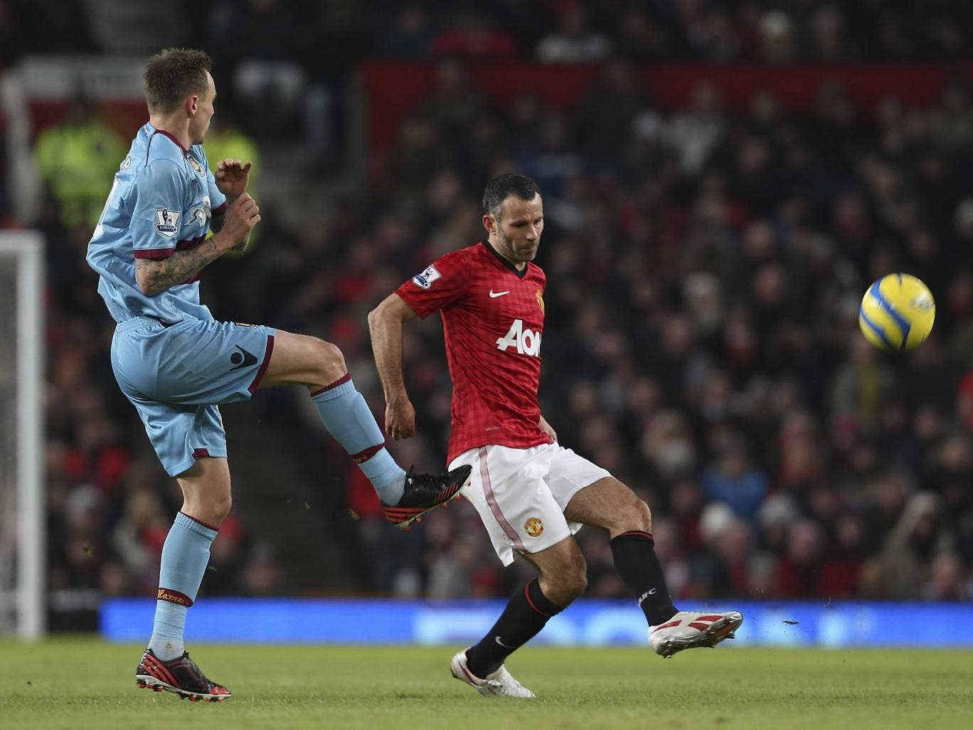 Ryan Giggs in action against West Ham