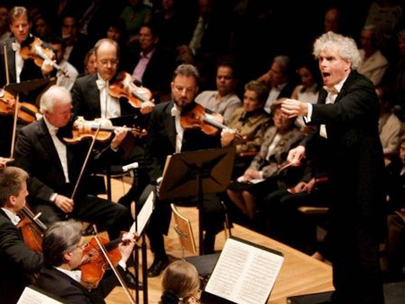 Sir Simon Rattle with the Berlin Philharmonic