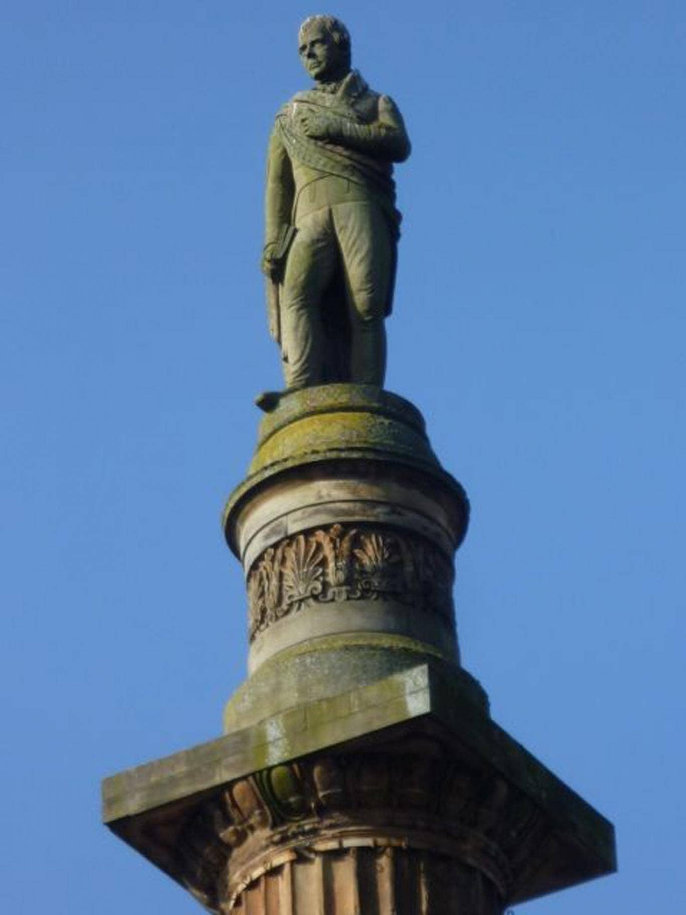 The monument of Walter Scott in Glasgow's George Square