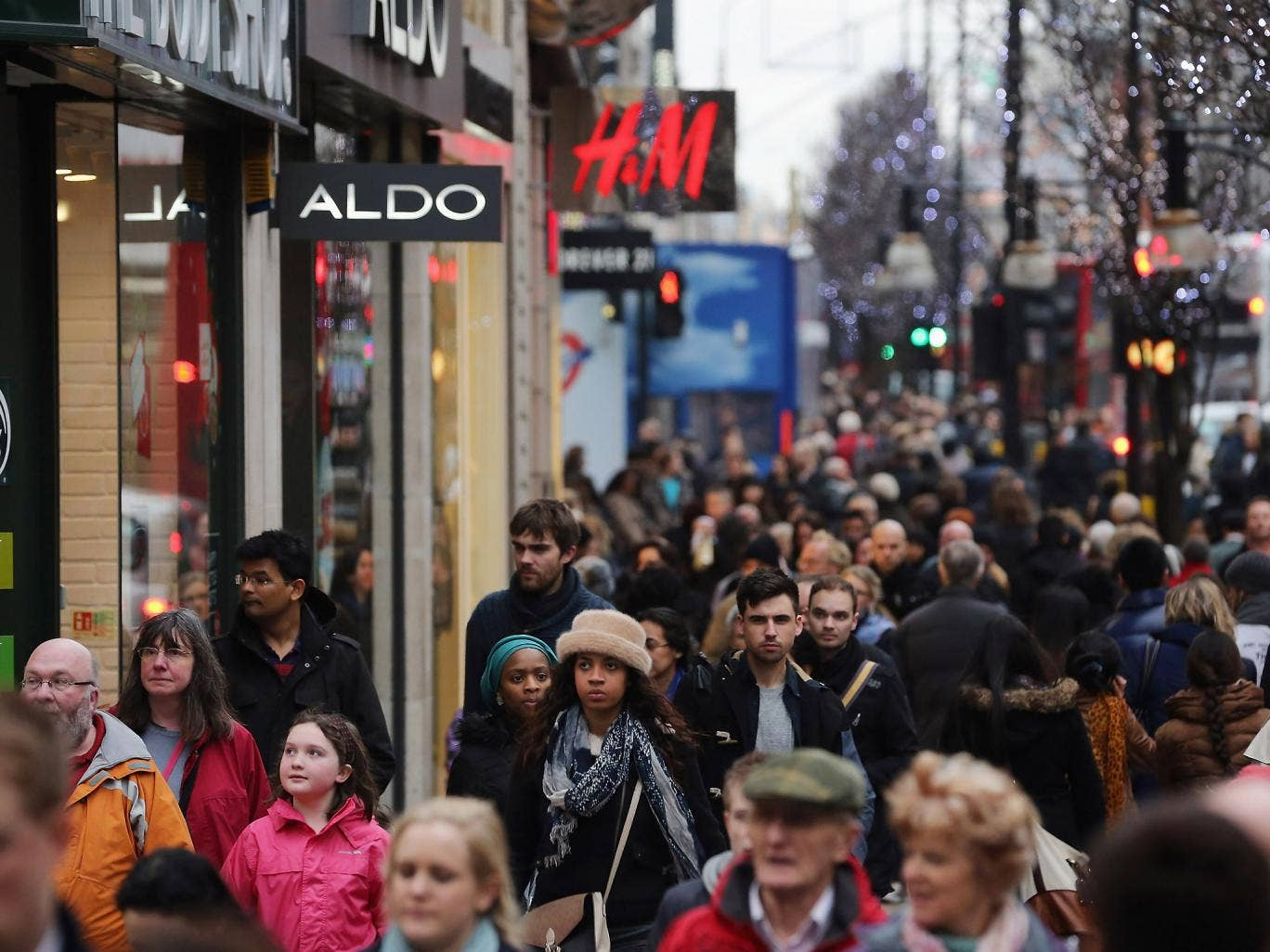 Not enough: shoppers make their way down Oxford Street on 24 December 2012 in London