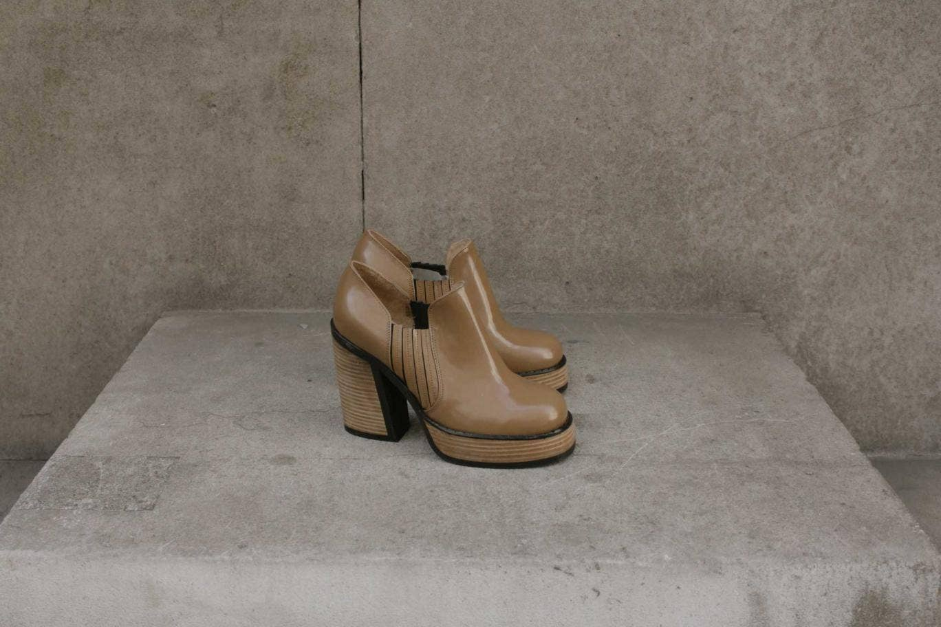 Fancy some footwear that's a bit 1970s, a bit Scandi and perfect for the coming season – or rather the microseason, when the sun comes out but it isn't sandal weather just yet? Well, Purified's new shoes, available at Selfridges, are diverting and directi