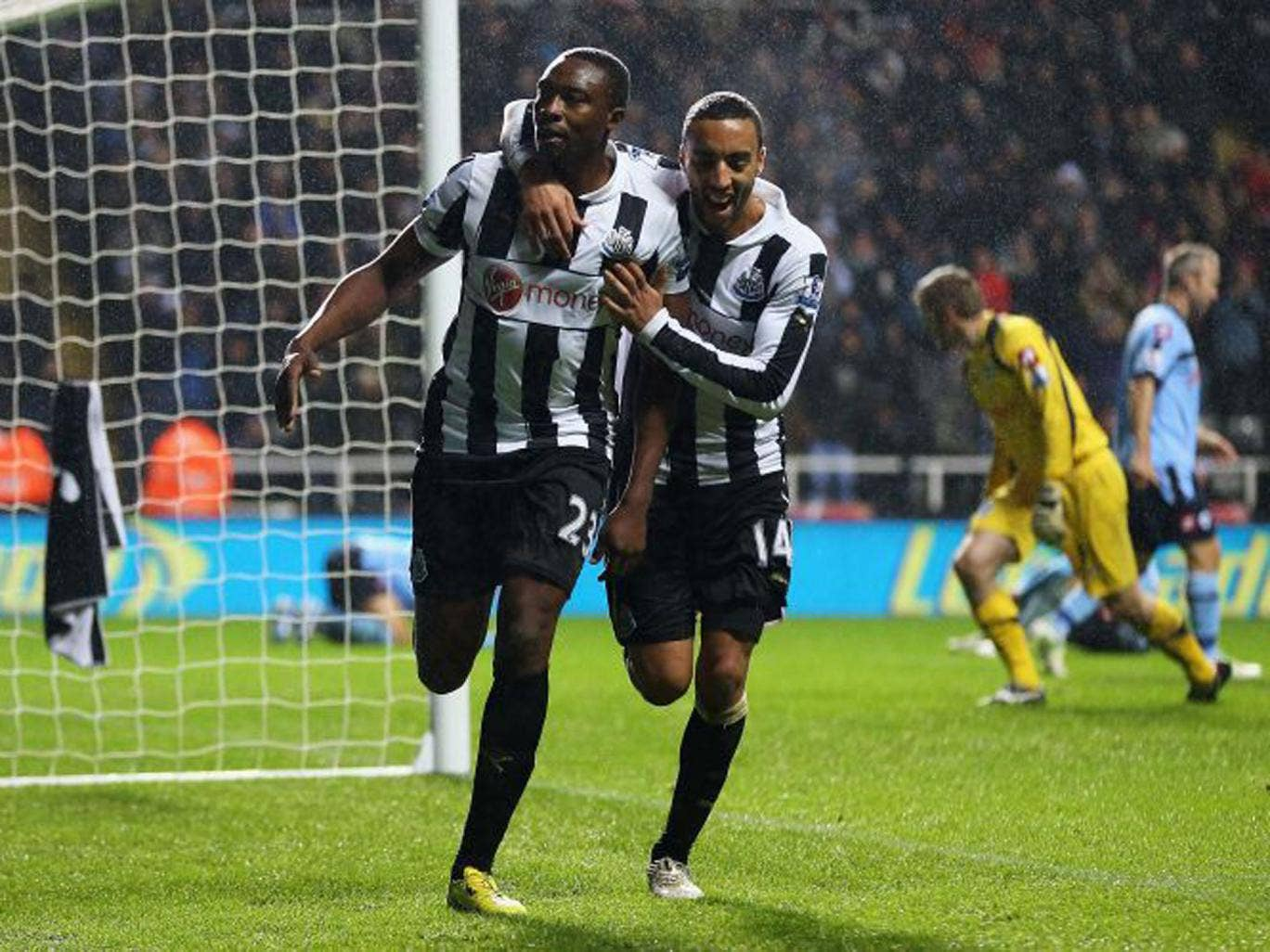 Shola Ameobi (left): 'Everyone in this squad is hurting'