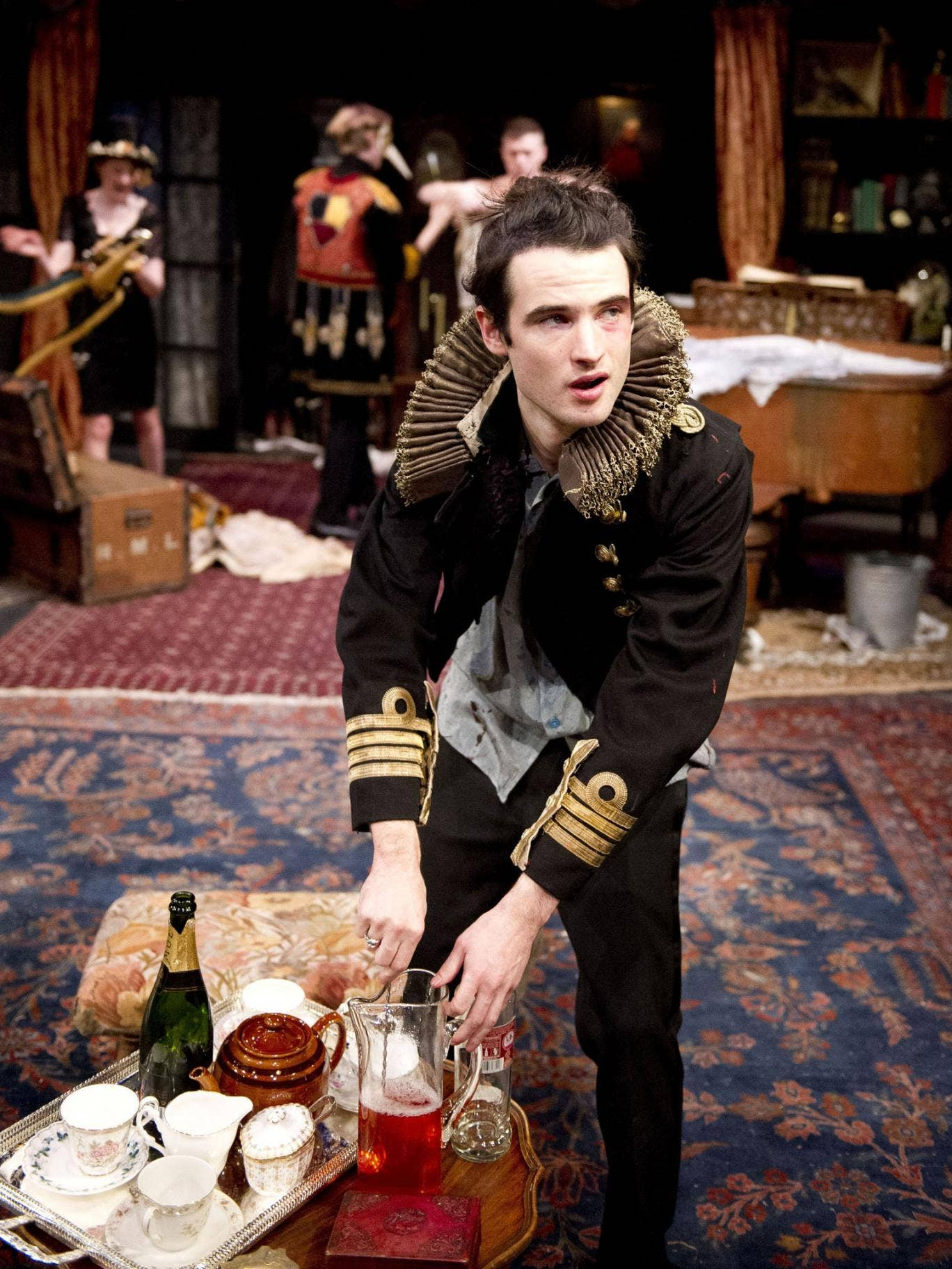 Tired frills: Tom Sturridge in No Quarter is a mouthpiece for platitudes