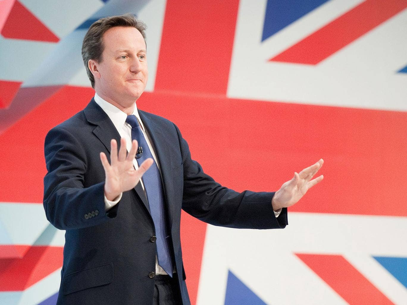 Tough talking: David Cameron is expected to give his speech tomorrow