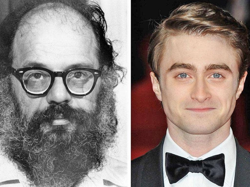 Daniel Radcliffe plays poet Allen Ginsberg on Kill Your Darlings in New York