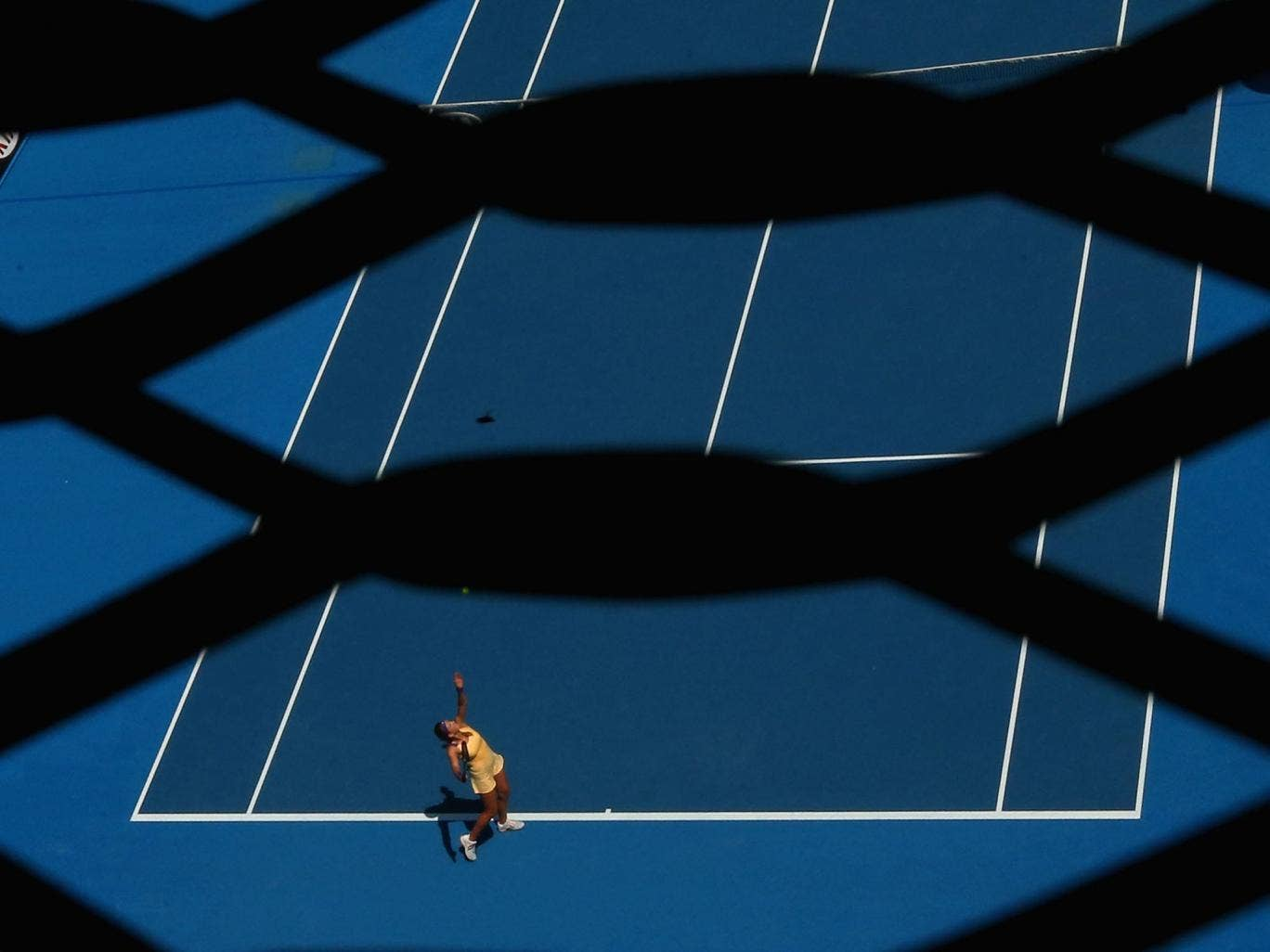 Victoria Azarenka in action at the Australian Open