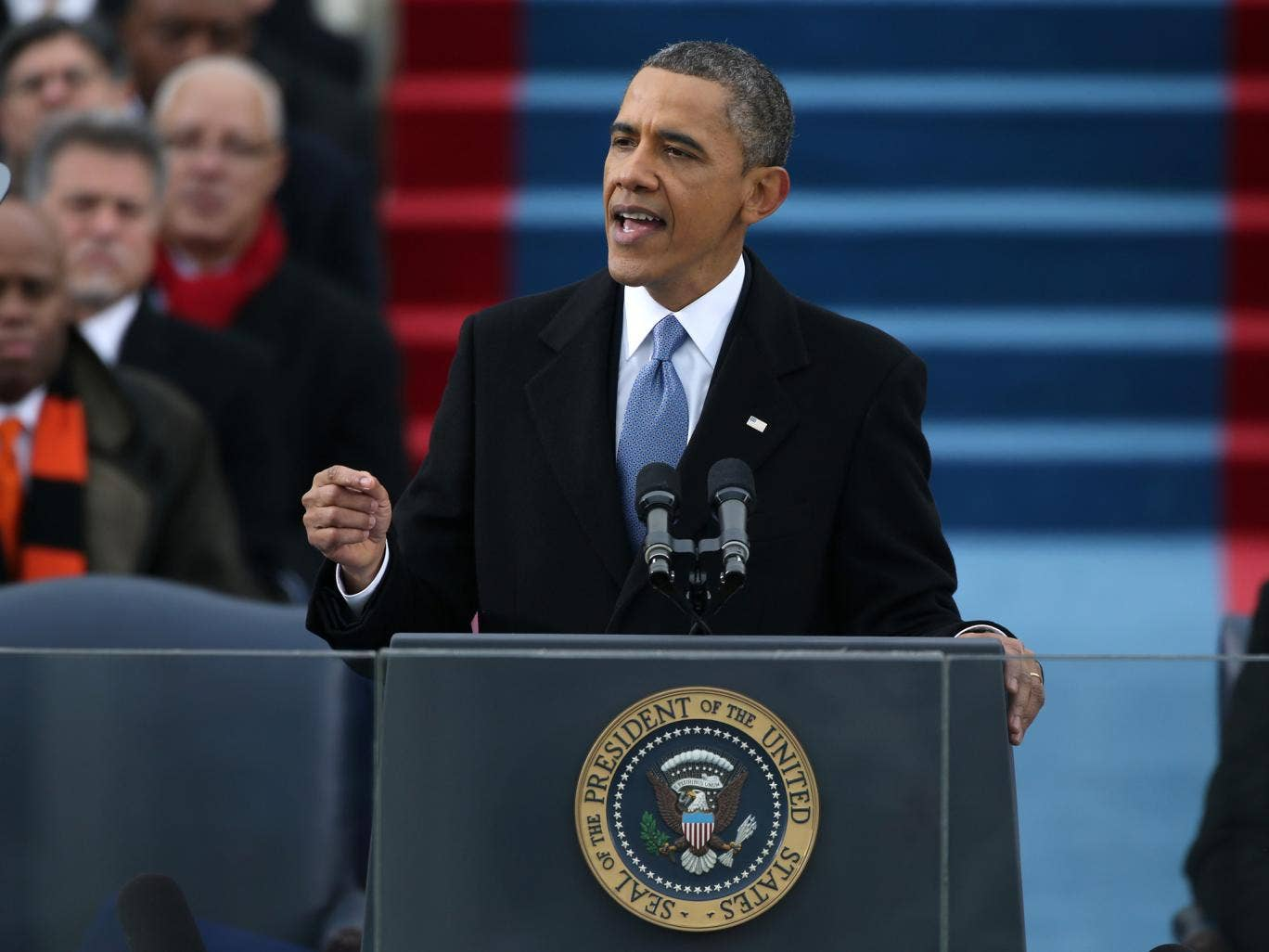 Obama delivers his second inaugural speech
