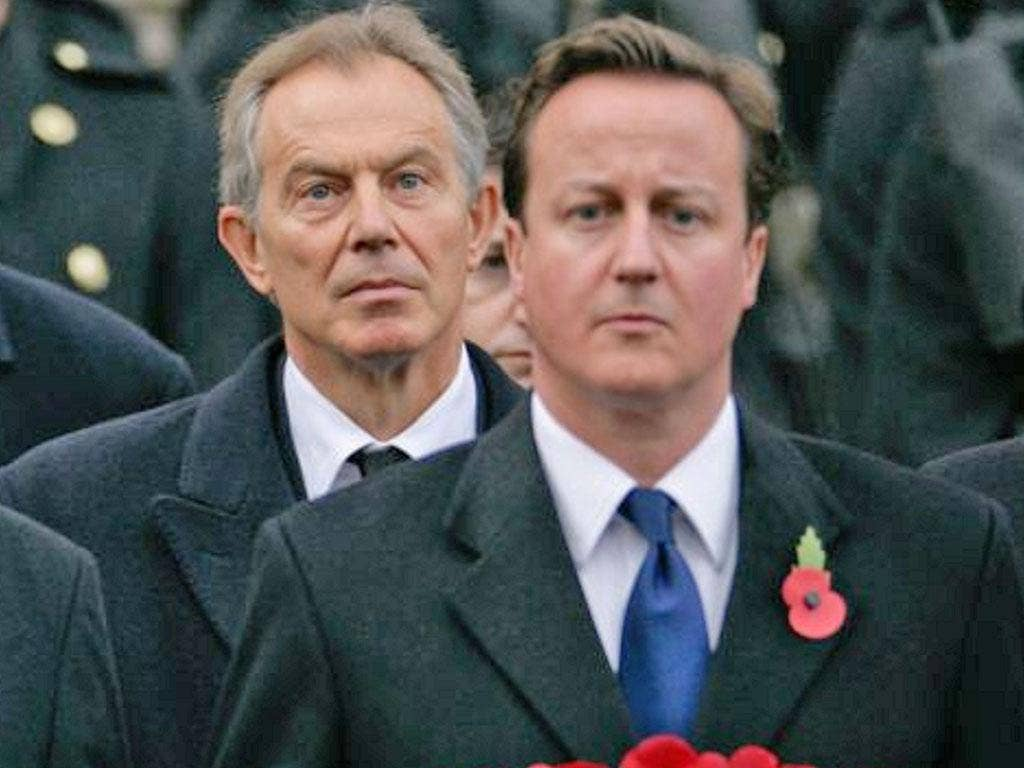 Cameron and Blair warned of a terror groups based 'an extreme distortion of the Islamic faith'