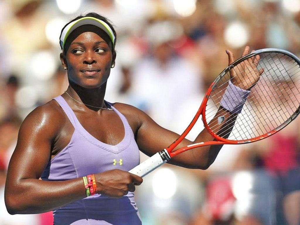 Sloane Stephens: The 19-year-old American has reached her first quarter-final at a Grand Slam