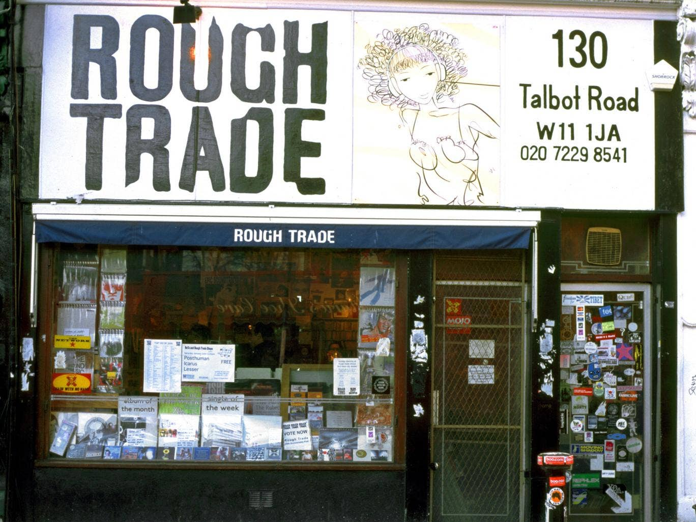 The Rough Trade store on Tolbert Road, west London