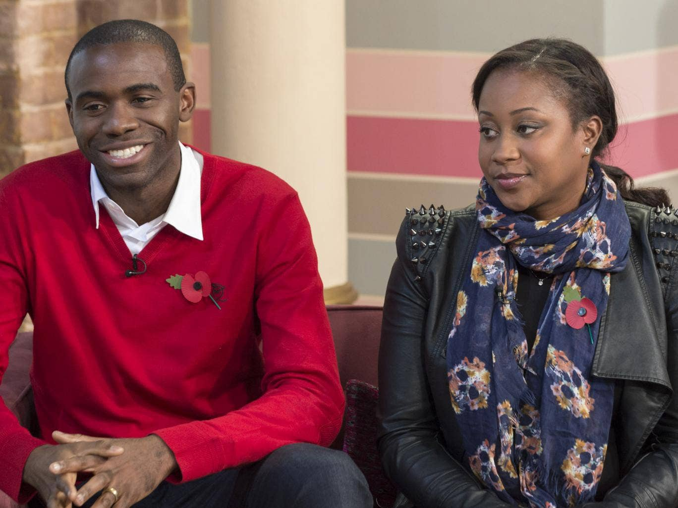 Fabrice Muamba and wife Shauna, pictured here in November last year, are said to be 'elated' at the prospect of a new baby