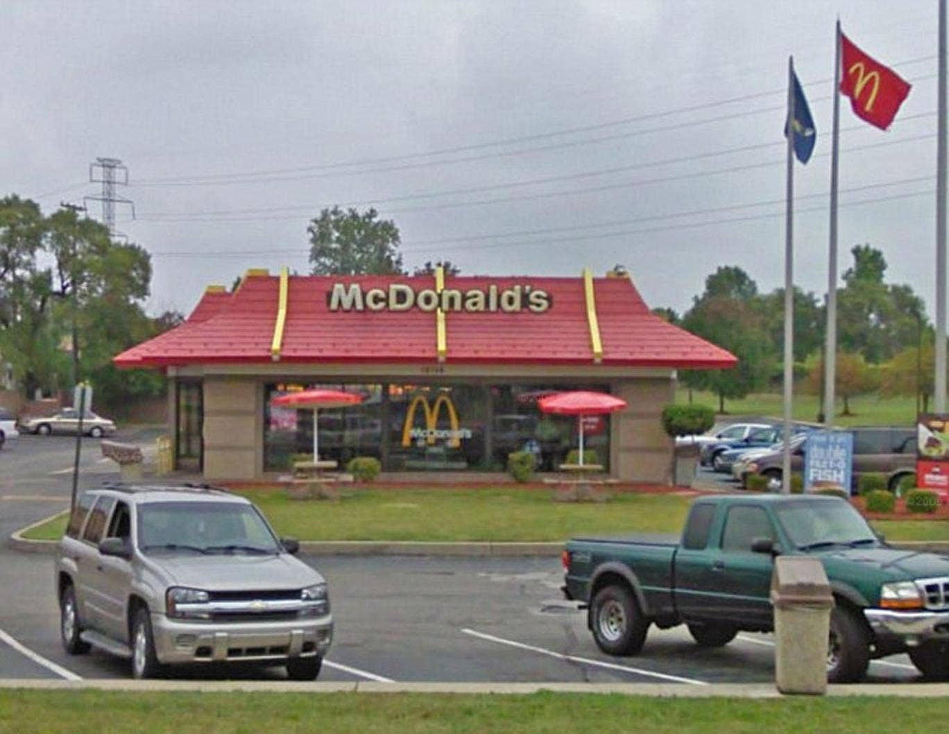 The McDonald's branch on Ford Road, Dearborn in Detroit, Michigan.