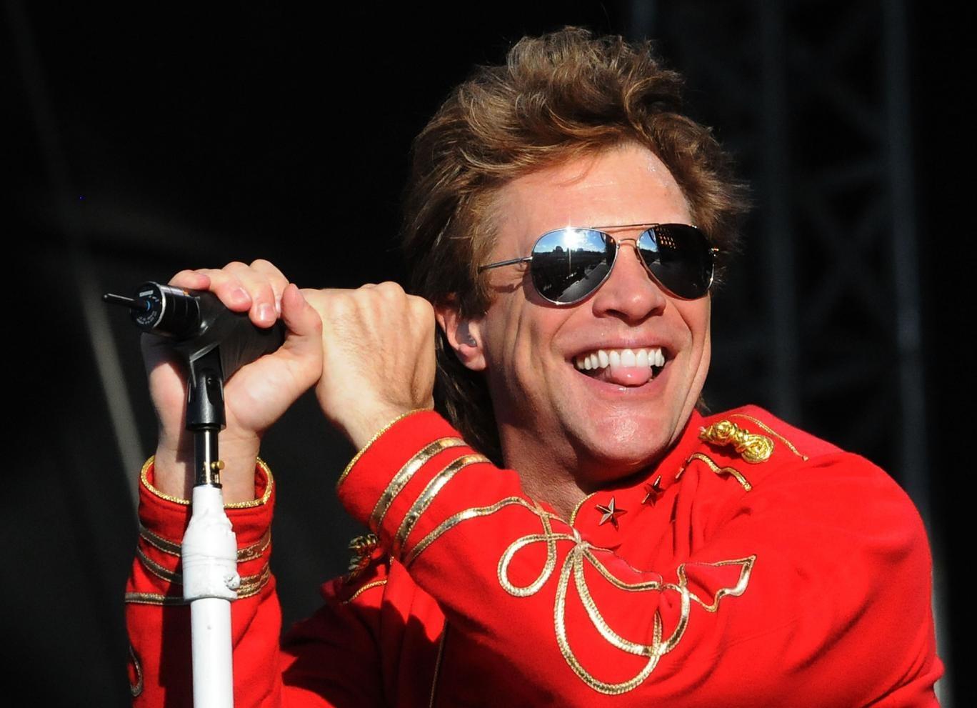 Bon Jovi performing at Hyde Park in 2011