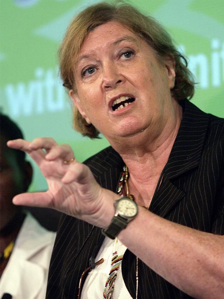 Inez McCormack speaking in Cape Town in 2007
