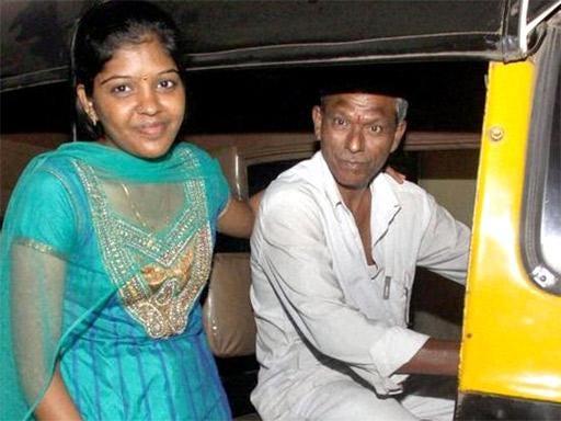 Prema Jayakumar with her proud father, Perumal Jayakumar