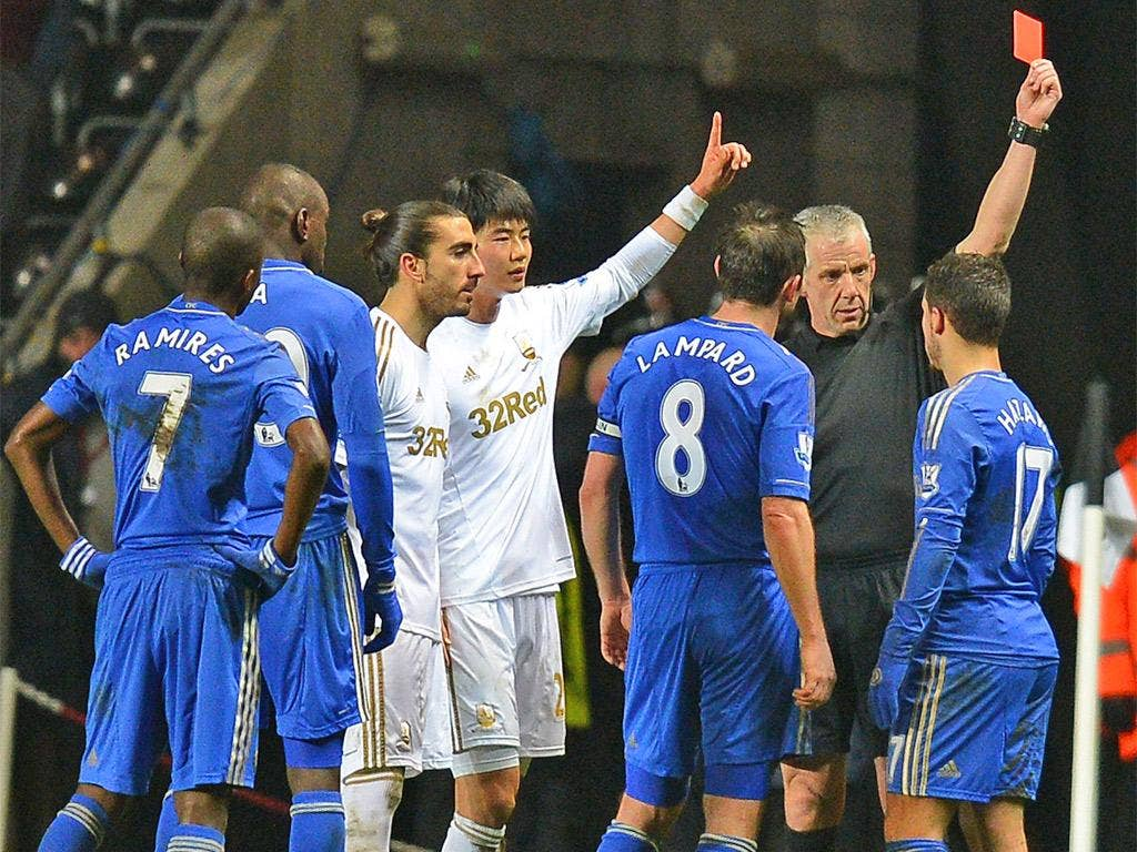 Chris Foy gives Hazard his marching orders