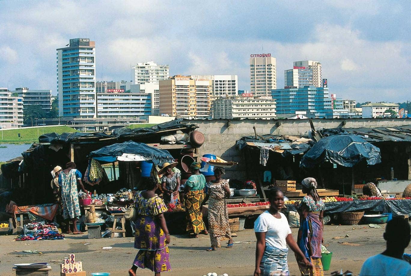The market in Abidjan, the largest city in Ivory Coast