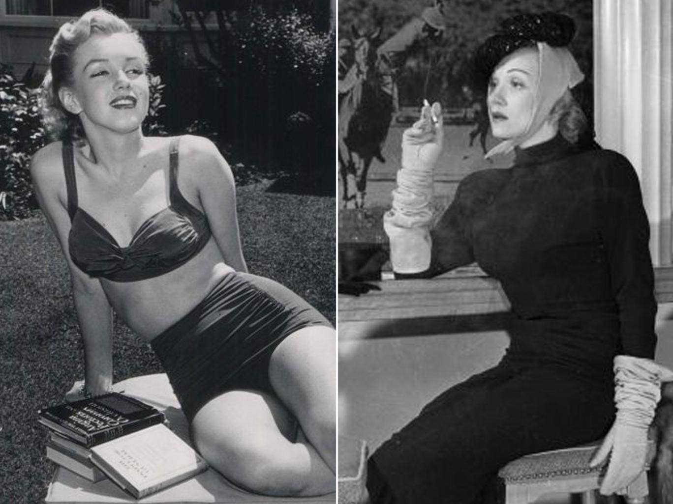 Travel takes on a new meaning when you follow in the footsteps of film stars: Marylin Monroe, left, and Marlene Dietrich