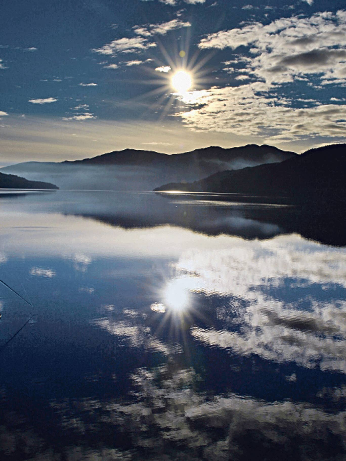 Reflective calm: Loch Lomond, where 'the scenery is stunning'
