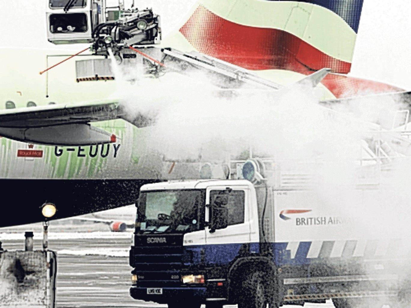 Spray day: de-icing a BA jet at Heathrow