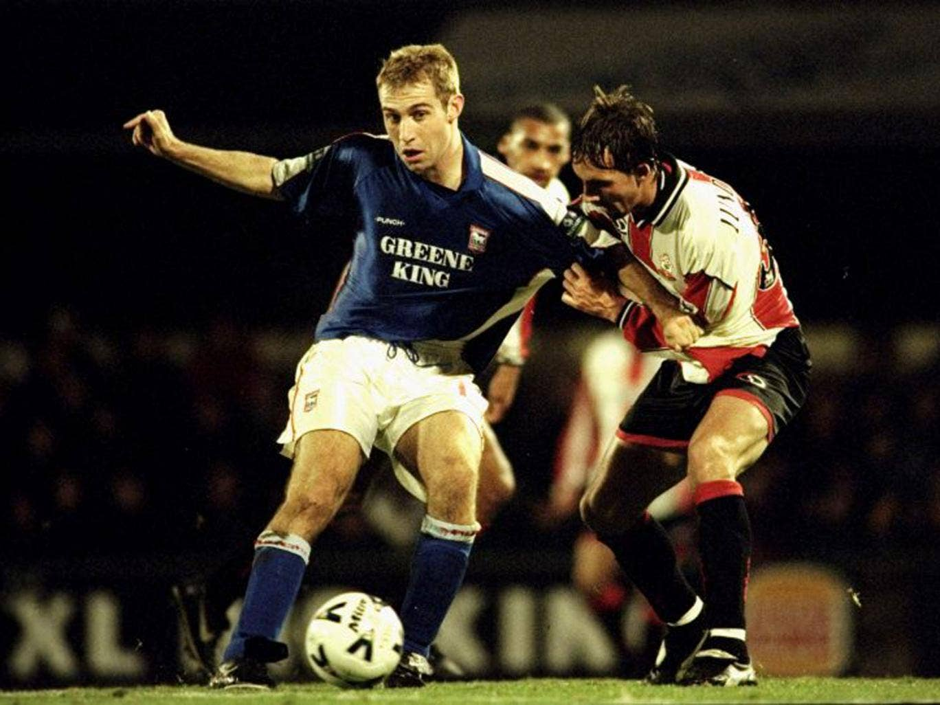 James Scowcroft in FA Cup action for Ipswich Town back in 1999