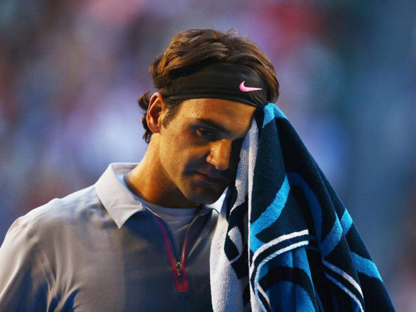 Roger Federer was outserved and saw Murray hit more winners
