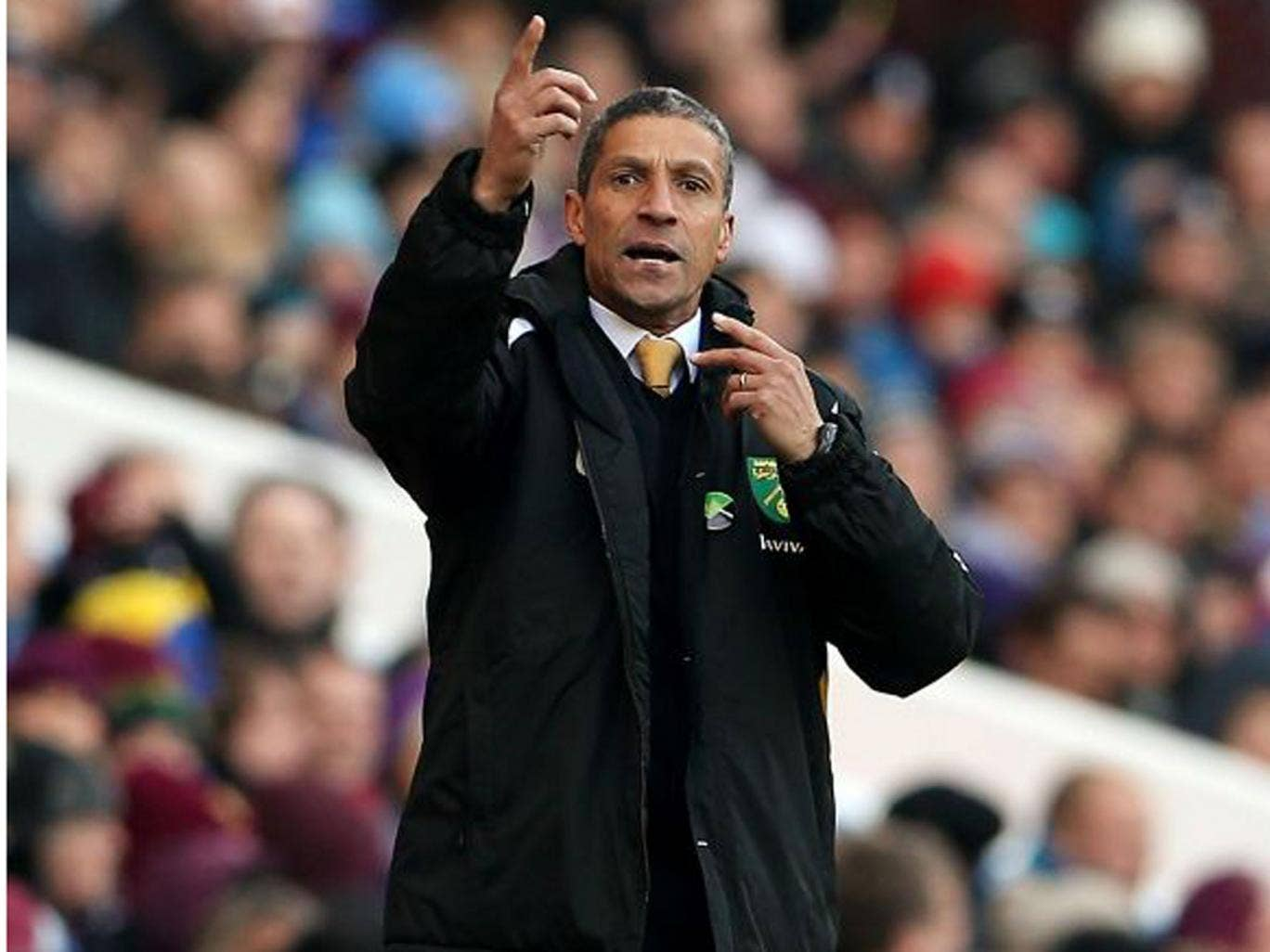 Chris Hughton wants a reaction from his players after the 5-0 loss to Liverpool