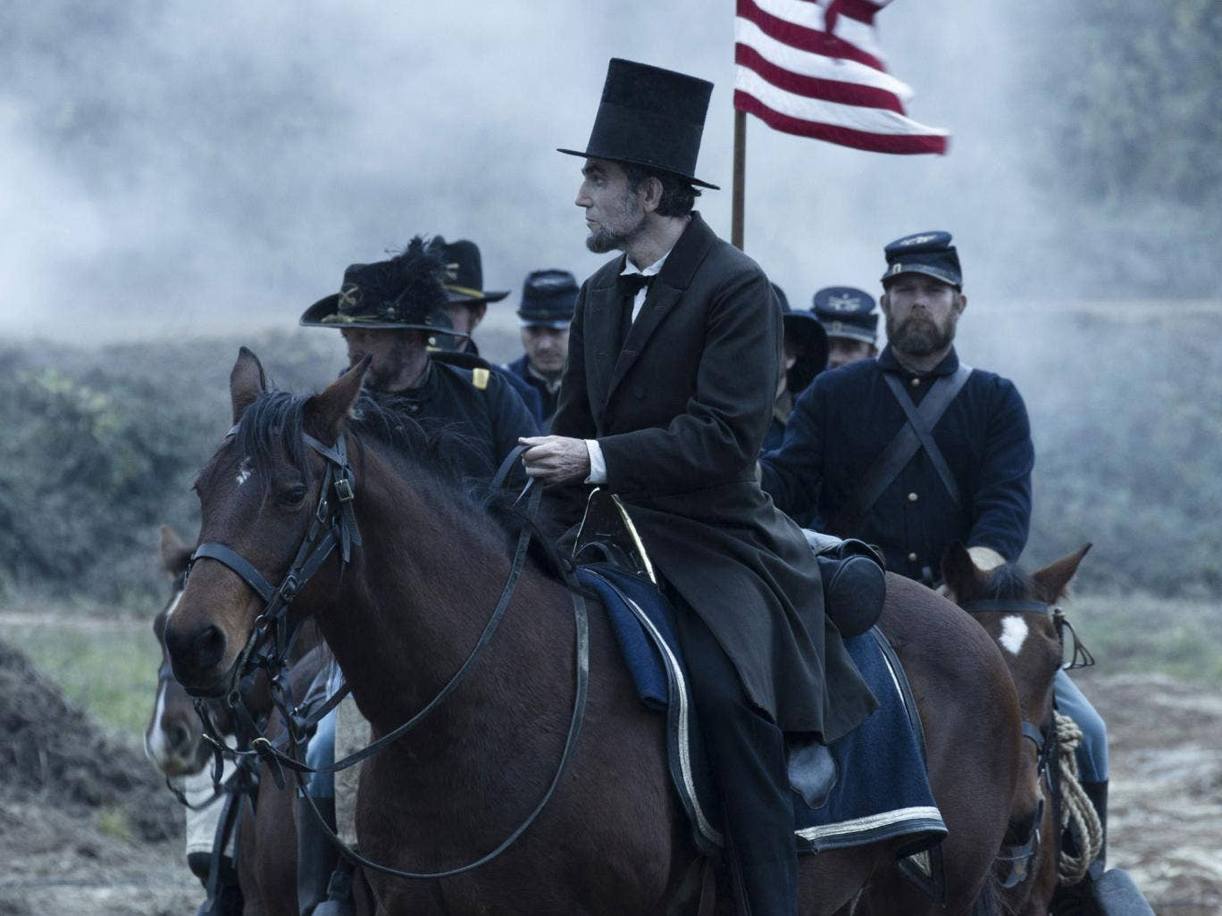 Steven Spielberg's stately drama about slavery-abolishing U.S. President Abraham Lincoln has 10 nominations, including best picture and best actor, for Daniel Day-Lewis — though no directing nomination for Spielberg.