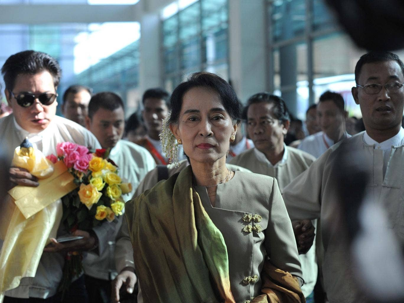 Determined: Suu Kyi says she warned her husband before their marriage that her country would always come first