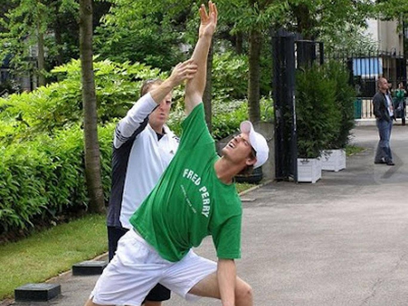 Poised: Murray, who started doing Bikram five years ago, says: 'It's tough; it's ugly'
