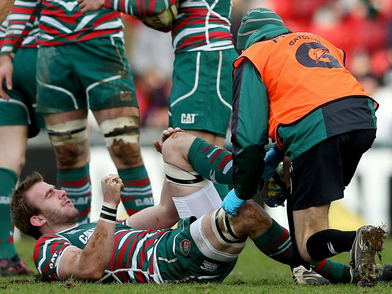 Tigers' director of rugby Richard Cockerill said of Tom Croft's injury: 'Tom's okay. He stiffened up and had a spasm and he just couldn't continue.'