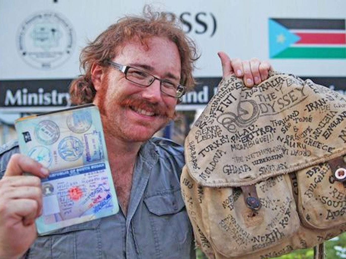 Graham Hughes prepares for the final leg of his record-breaking journey