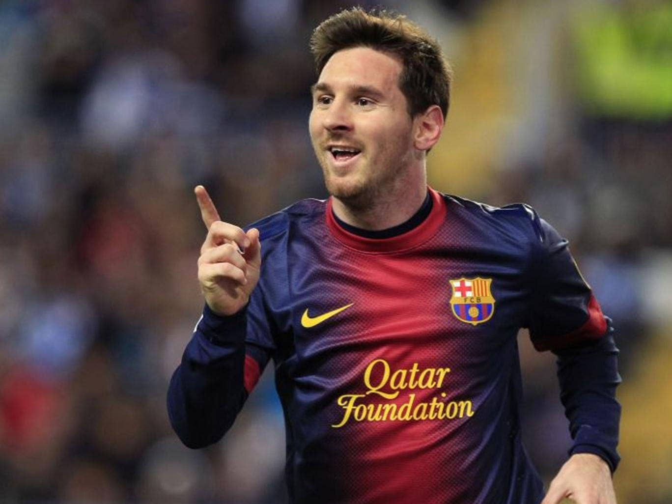 Messi is on target to break his own Spanish league record of 50 goals from last season