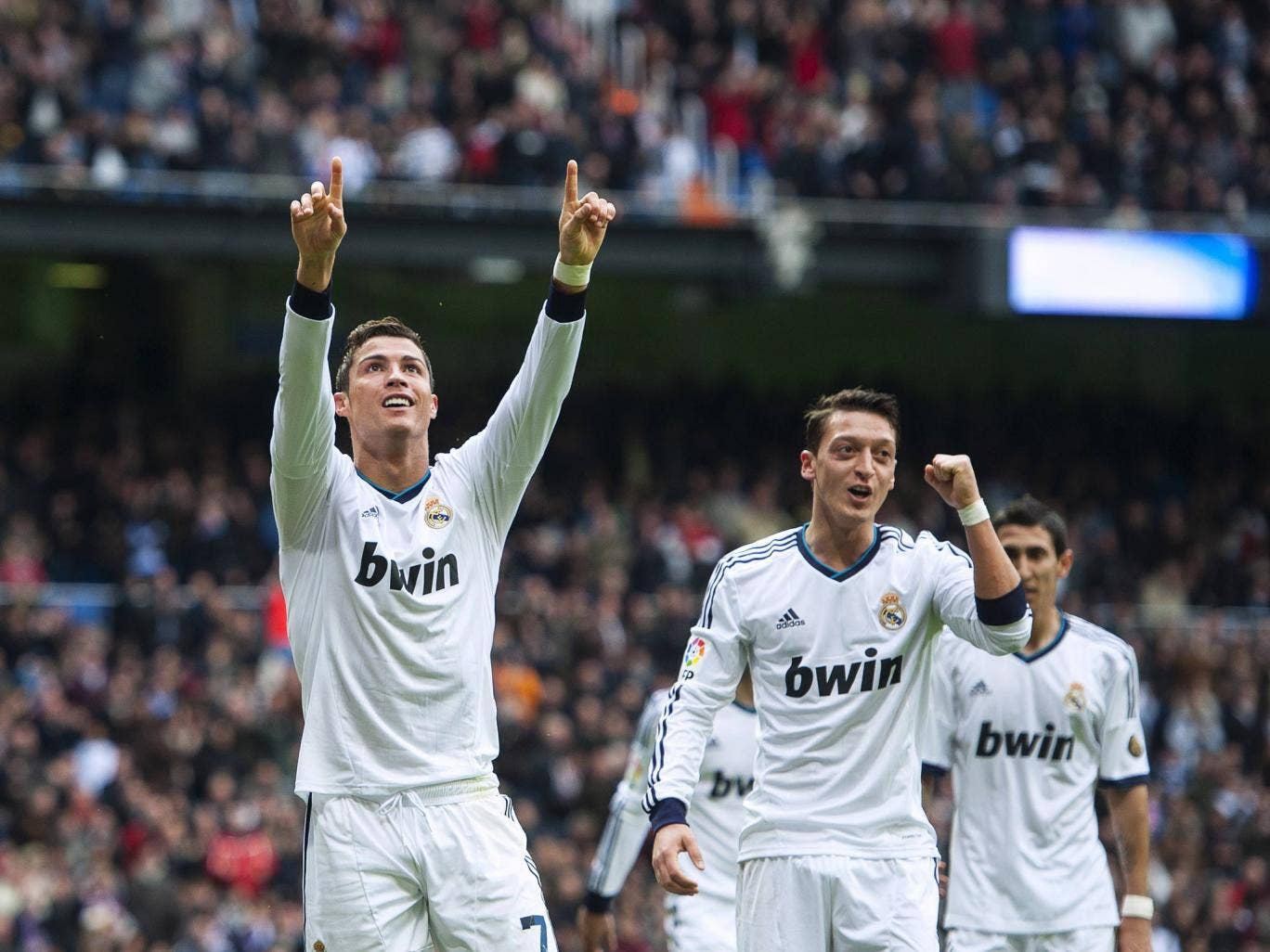 <b>v Getafe, La Liga, 27 January 2012</b><br/> A blistering 10 minute spell between the 62nd and 72 minute saw CR7 claim his first hat-trick of 2013. Jose Mourinho was kind enough to give him a break after his third, which was scored from the penalty spot