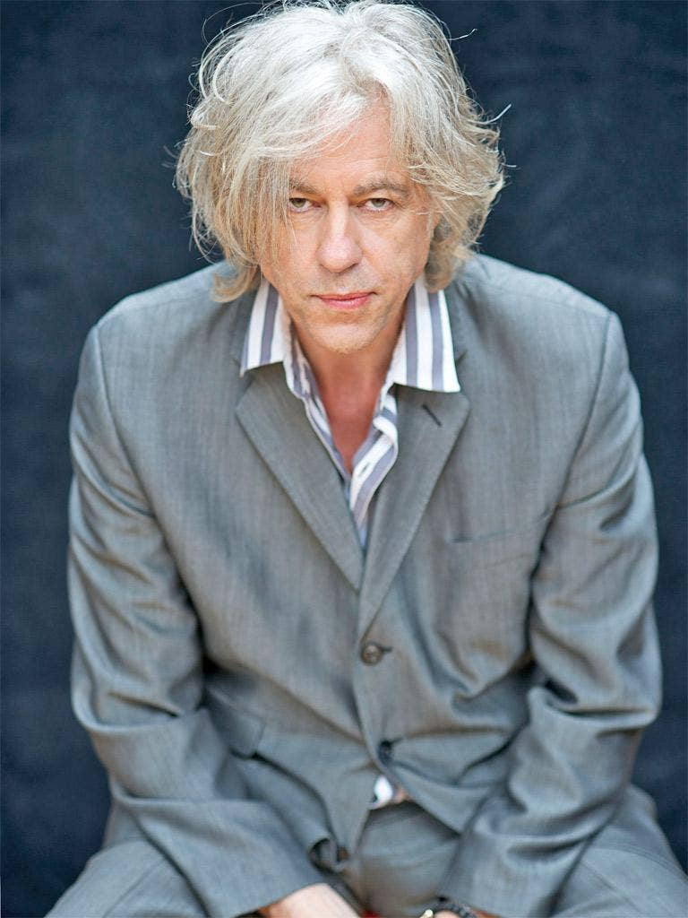 Bob Geldof hasn't played with the Boomtown Rats' since 1986