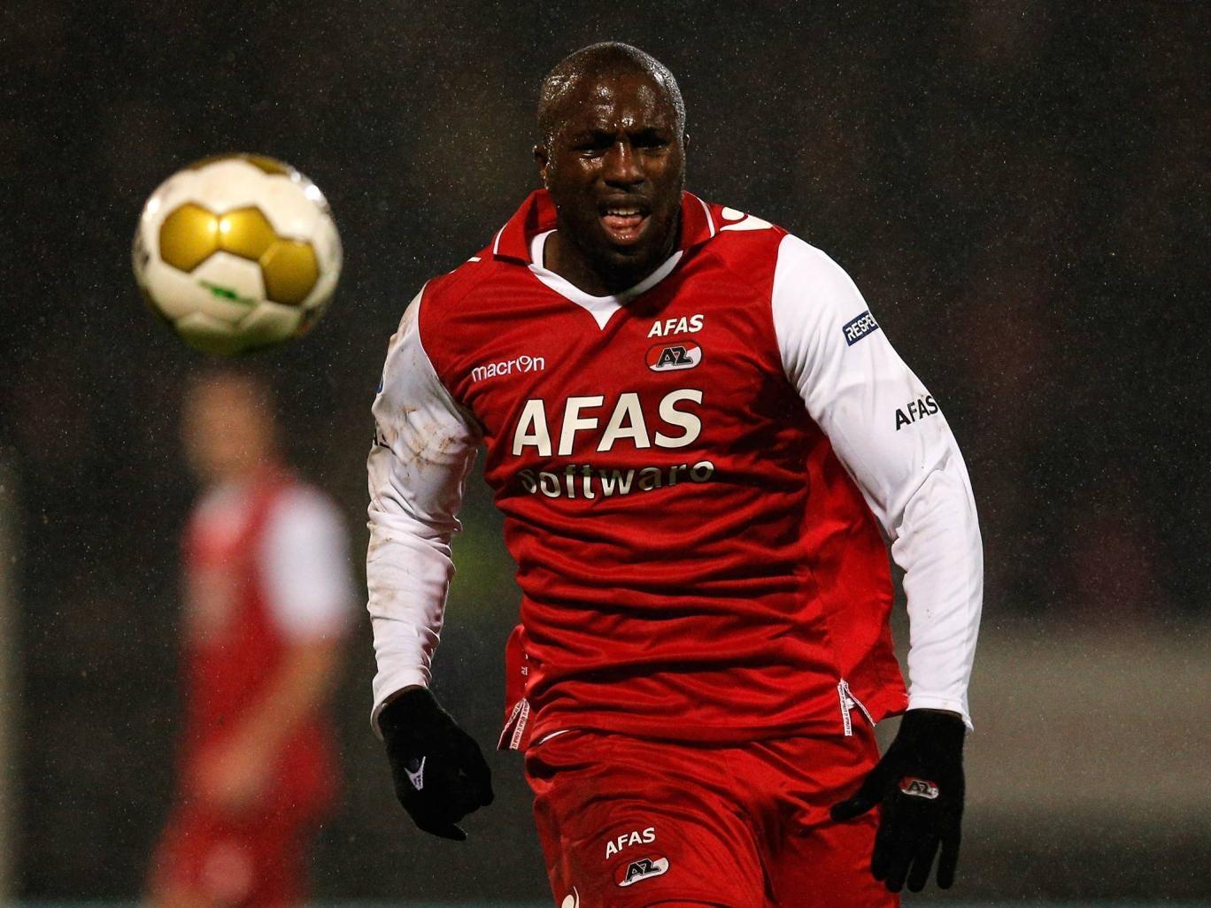 Jozy Altidore in action for AZ Alkmaar against FC Den Bosch