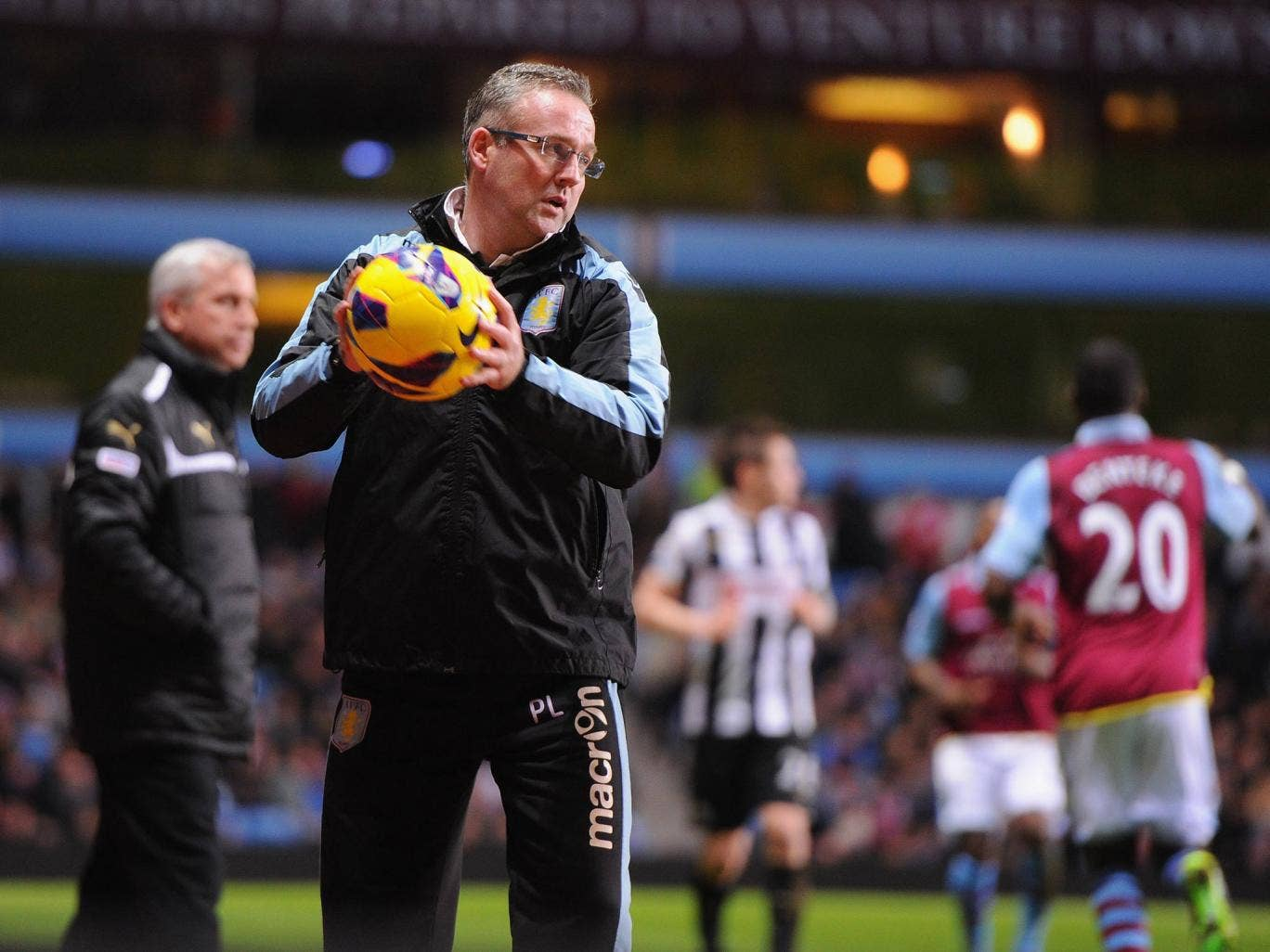 Paul Lambert watches his Aston Villa side lose 2-1 to Newcastle