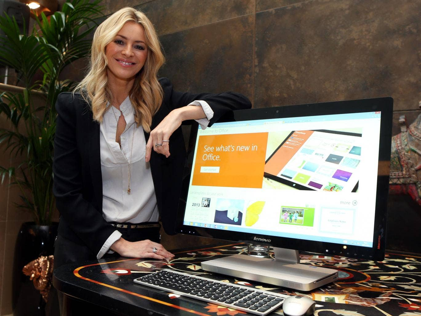 Tess Daly speaks at the UK Launch for Microsoft Office 365