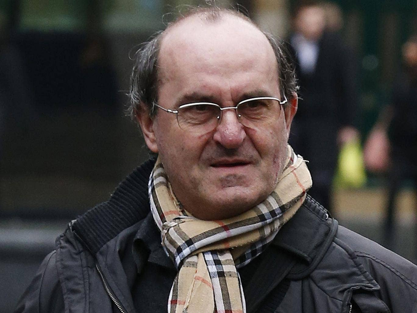Giovanni Di Stefano arrives at Southwark Crown Court