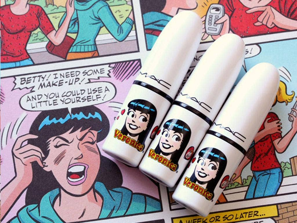 The cosmetics encapsulate the all-American spirit of the 'Archie' comics