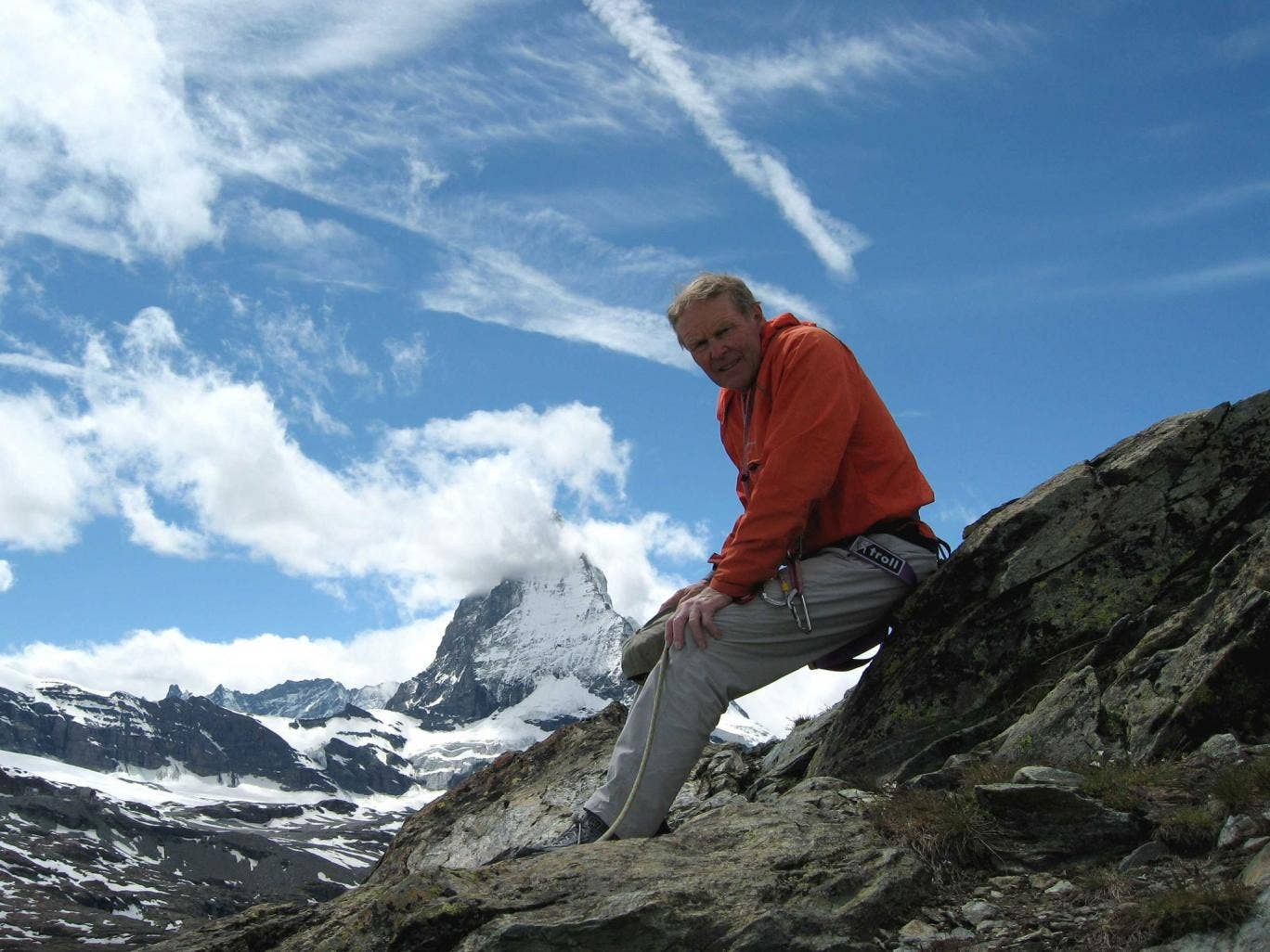 Walker near the Matterhorn in 2007 on the 150th anniversary of the Alpine Club's formation